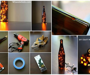 bottle, diy, and home decor image