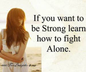 alone, fight, and strong image