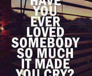 cry, so much, and loved somebody image