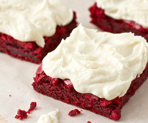 food, red velvet, and cake image
