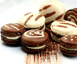 chocolate, macaroons, and sweet image