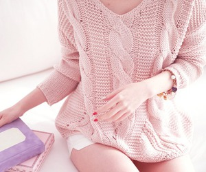 accessories, pink, and sweater image