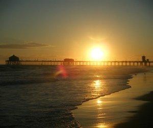 beach, california, and huntington image