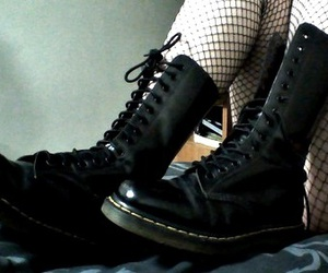 boots, black, and goth image