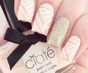 nails, ciaté, and gold image