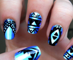 ombre and tribal print image