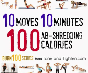 workout, calories, and fit image
