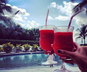 drink, luxury, and pool image