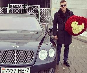 rose, car, and Bentley image