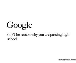 google, quote, and high school image
