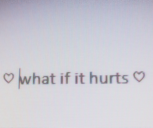hurt and text image