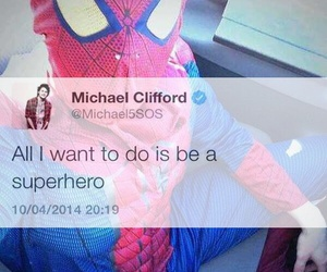 spiderman and michael clifford image