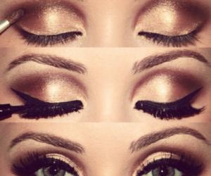 blue, lashes, and eyesshadow image