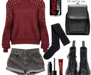 <3, fashion, and outfit image