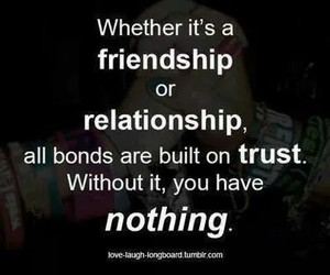 quote, Relationship, and trust image