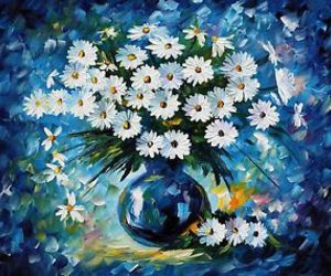 daisy, blue, and flowers image