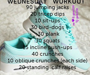 body, exercise, and wednesday image