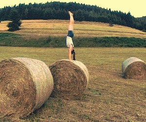 gym, handstand, and summer image