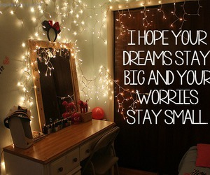 quote, Dream, and lights image
