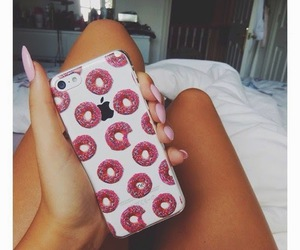 iphone, case, and donuts image