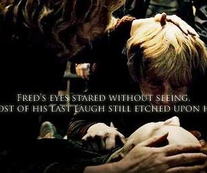harry potter, sad, and fred weasley image