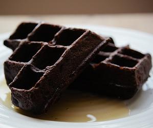 waffles, chocolate, and food image