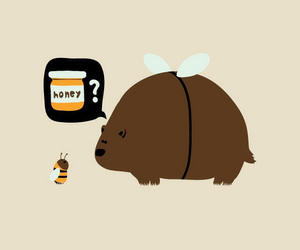 honey, bear, and bee image