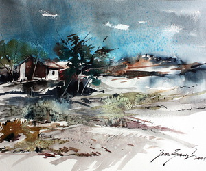painting, spain, and watercolor image