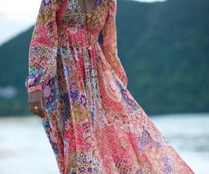 boho, dress, and bohemian image
