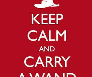 keep calm, harry potter, and wand image