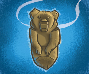 bears, disney, and totem image