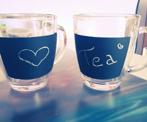 cups, diy, and heart image