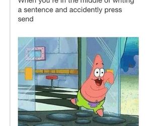 funny, patrick, and spongebob image