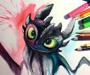 art, colors, and dragon image