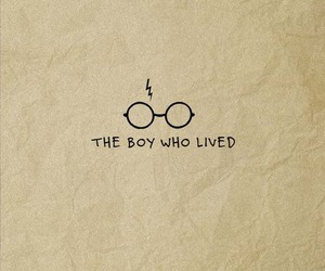 harry potter, the boy who lived, and book image
