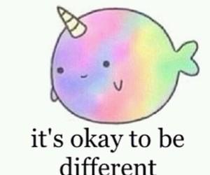 different, unicorn, and okay image