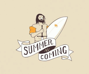 humor, summer, and winteriscoming image