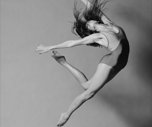 dance, black and white, and dancer image