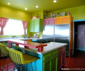 kitchen, house, and colorful image