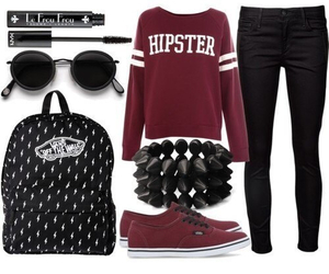 hipster, outfit, and clothes image