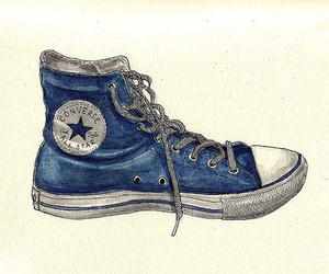 art, converse, and shoes image