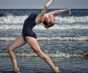 ballet, beach, and pointe image