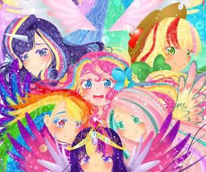 rainbow dash, princess celestia, and princess twilight image
