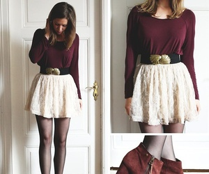 fall, maroon, and style image