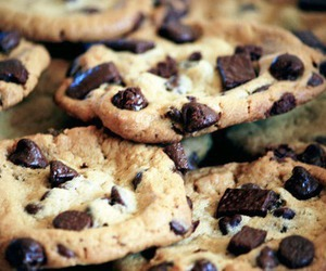chocolate chip cookies, food, and Cookies image