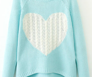 sweater, fashion, and heart image
