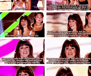 lea michele, quotes, and teen choice awards image