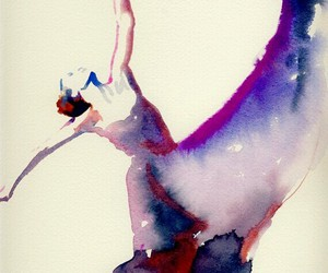 acuarela, bailarina, and wallpaper image