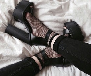 alternative, goth, and shoes image