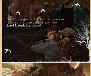 ginny, harry potter, and hermione image